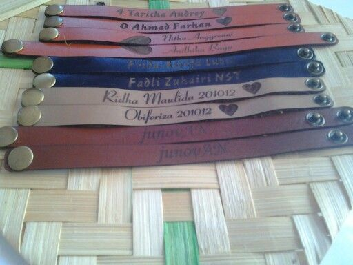 Gelang kulit custom name