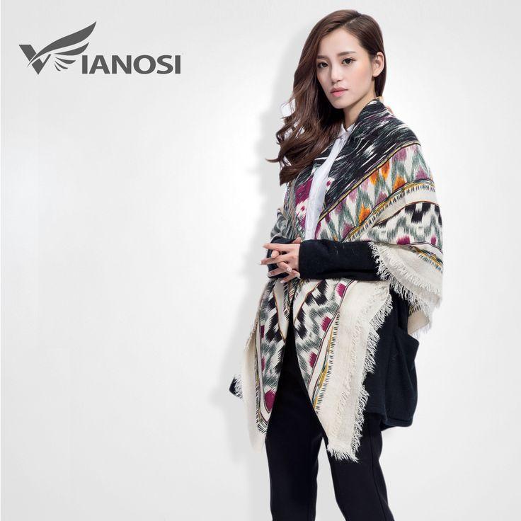[VIANOSI] Najnovšie módne značka Zimná klasická Scarf Women Vytlačiť kašmír Romantické VS060