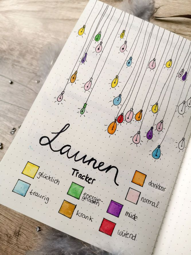 Bullet journal, planner, filofax, monthly overview, weekly overview, idea, mood tracker, mood