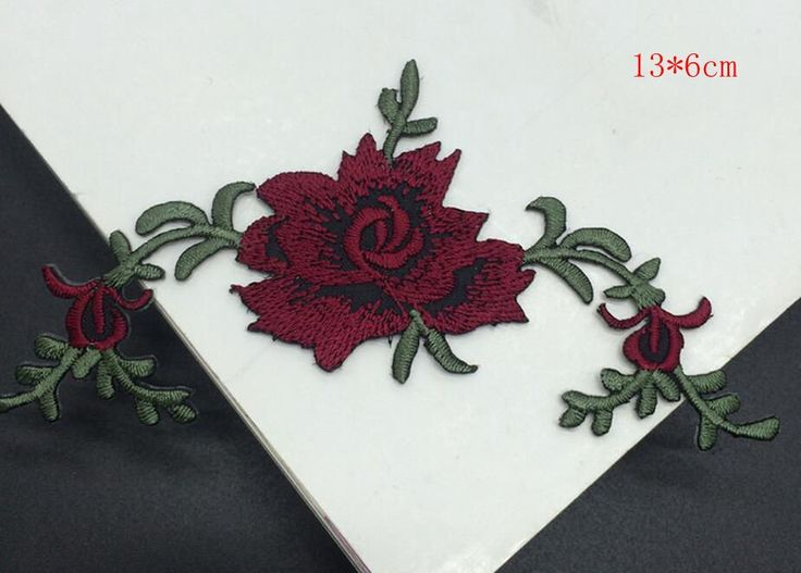 Quality 1pcs peony flower Iron on or Patches for Clothes Wedding Decoration Dress Sewing on patch Applique Embroidery Accessory