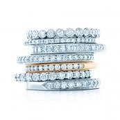 TiffanyStackable Rings, Stacked Rings, Celebrities Band, Diamonds Rings, Wedding Band, Martha Stewart, Rings Band Stacked Diamonds, Celebrities Rings, Engagement Rings
