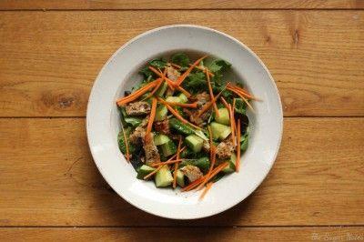 The Sugar Notes: Macadamia Dukkah Crusted Chicken Salad #IQS #IQS8WP