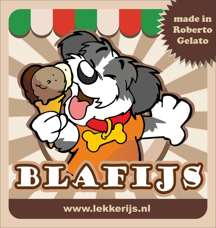 IJs dat Roberto samen met een voedingsdeskundige heeft ontwikkeld voor honden.