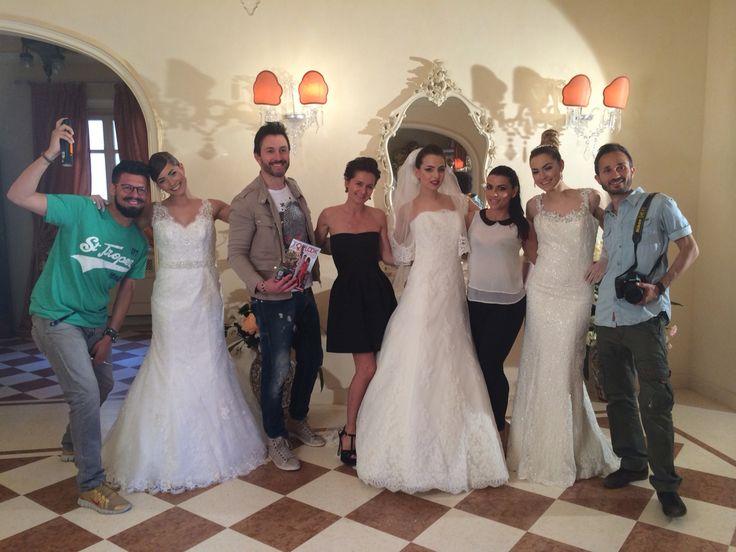Back stage servizio fotografico sulla #modasposa con gli abiti dell'Atelier #IlGiarfinodellaSposa