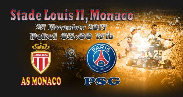 Prediksi Skor Pertandingan AS Monaco Vs PSG 27 November 2017 - Prediksi Pertandingan Bola - Laga Pertandingan Liga 1 Perancis antara kesebelasan AS Monaco Vs PSG yang akan berlangsung di Stade Louis II, Monaco pada tanggal 27 November 2017, pukul 03:00 WIB, dini hari dipastikan akan berlangsung seru.