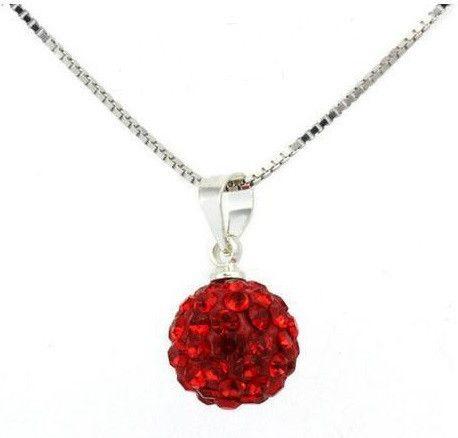Infinity Shamballa Ball Necklace Red