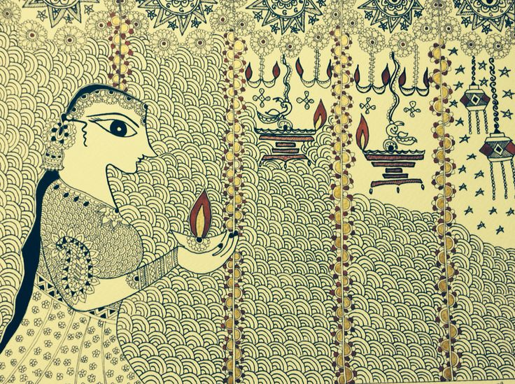 Deepavali.... Festival of colors. Art By Poornima