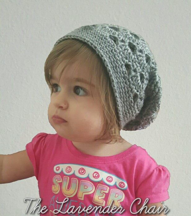 Stacked Shells Slouchy Beanie (Child/Toddler Sizes) - Free Crochet Pattern - The Lavender Chair