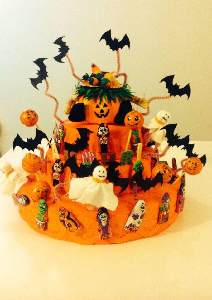 Torta caramelle decorazione compleanno halloween