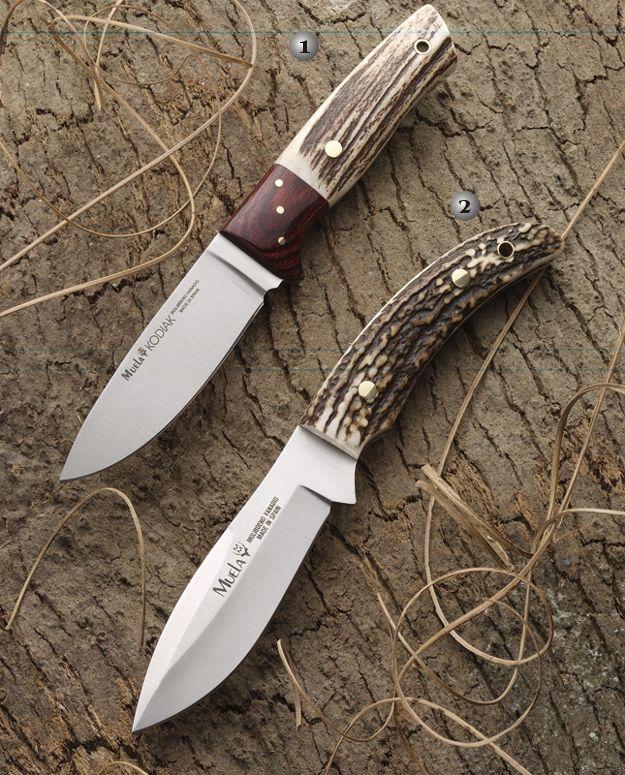 Muela knives, mount knife, kodiak-10MA, saurio-11A. Handle of deer stag