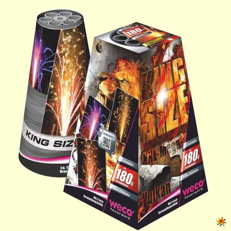 Bodenfeuerwerk Vulkan King Size - Weco Feuerwerk 001