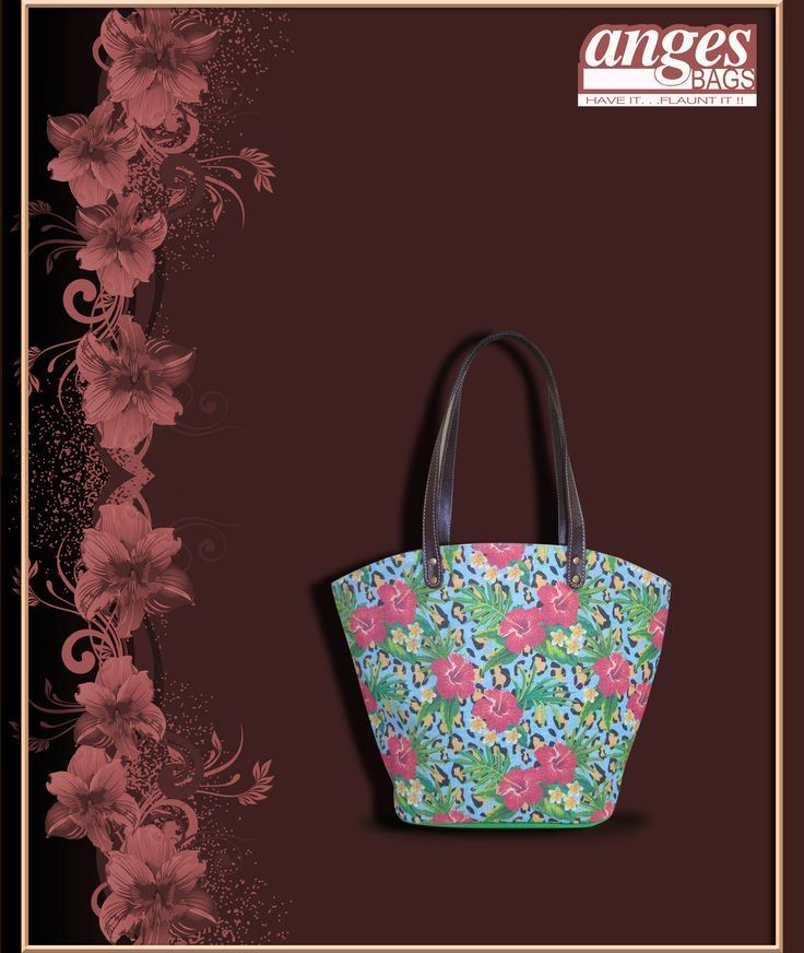 Green Tote with floral motifs are an eye soother all the year round but to say the least, summers are a great way to flaunt florals in pastels.