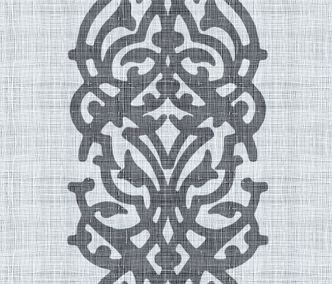 arabesque_linen_black fabric by chicca_besso on Spoonflower - custom fabric