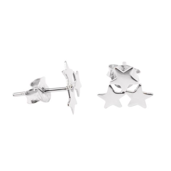Tristar sterling silver earrings