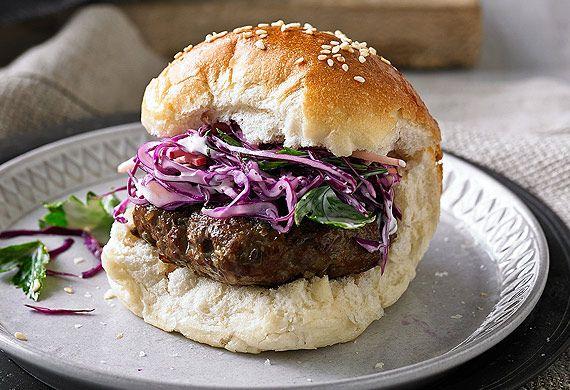 Mini smoked beef burgers with slaw recipe - 9Kitchen