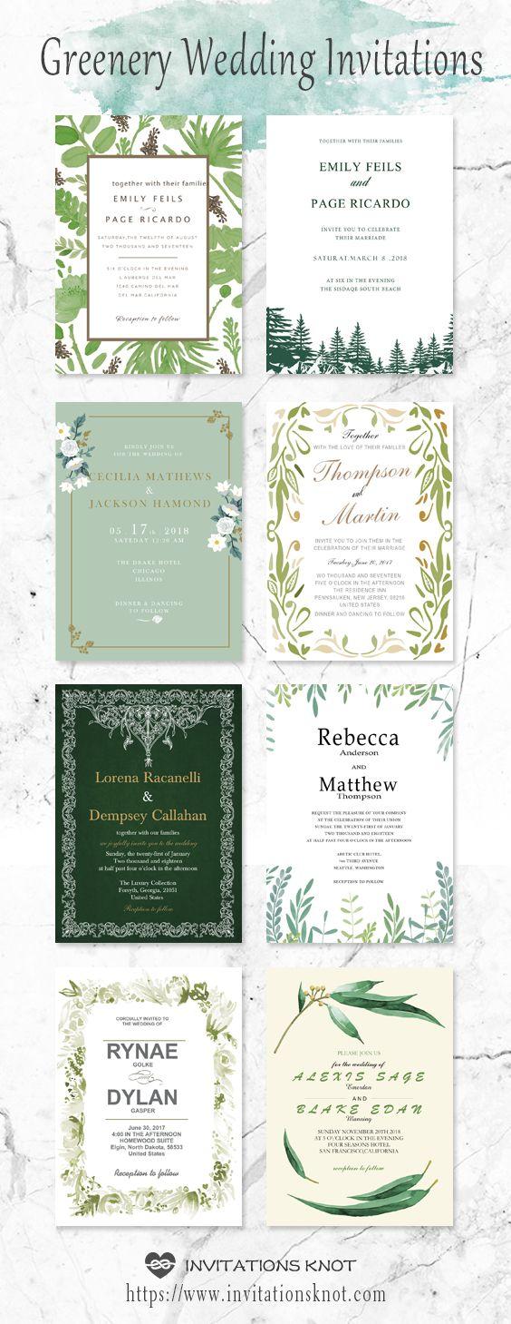 #greenery wedding ideas #wedding invitations #diy wedding invitations