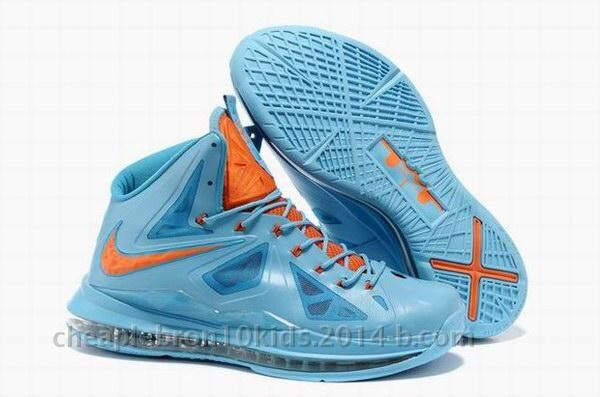 Outlet Nike LeBron 10s EXT Blue Suede Blue White Oranage 607078