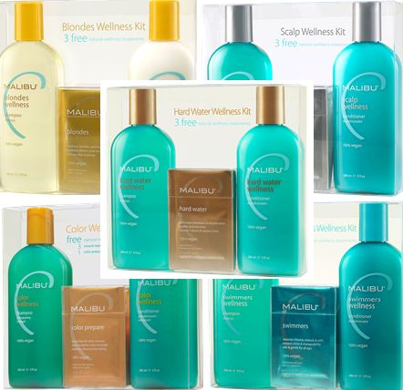Malibu C Hair Care System Kits...this is the only thing that helps keep my hair from turning orange from our Well Water