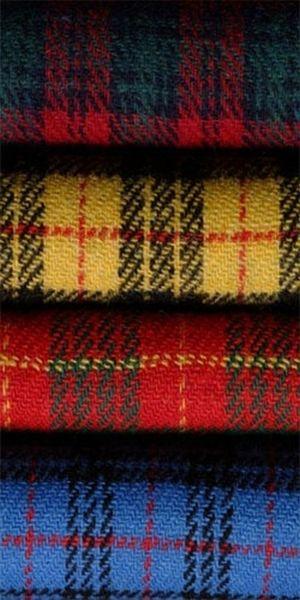 tartan wool: