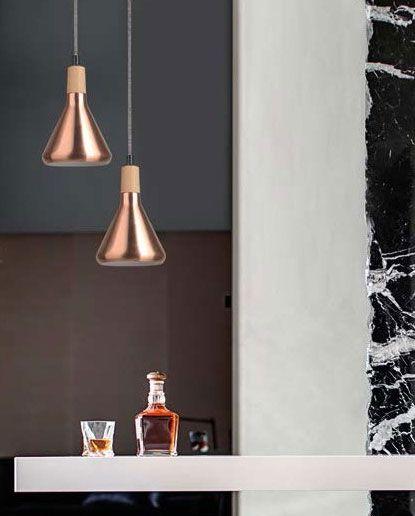 Φωτιστικό κρεμαστό μεταλλικό σε χάλκινο χρώμα!  #bronze #lighting #bronzelighting #luminaire #light #livingroom #kitchenlight #bar #barlight #decor #style #decoration #modern #χάλκινο #φωτιστικό #novaluce