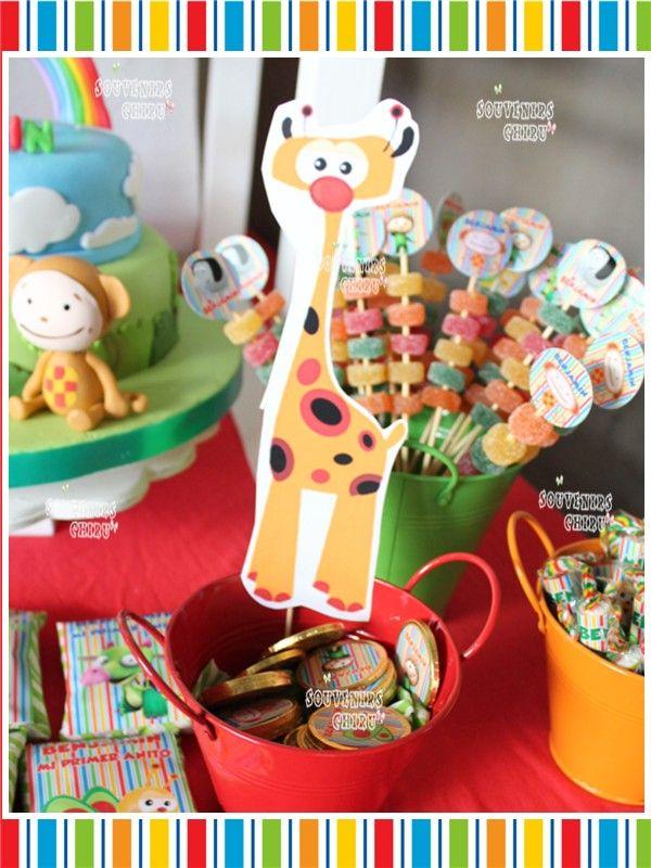 Candy Bar Baby Tv. Golosinas personalizadas. Decoración Baby Tv. www.facebook.com/souvenirs.chiru