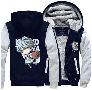 Hot New Kuroko's Basketball Anime Clothing Hoodie Logo Winter JiaRong Fleece Mens Sweatshirts Free Shipping