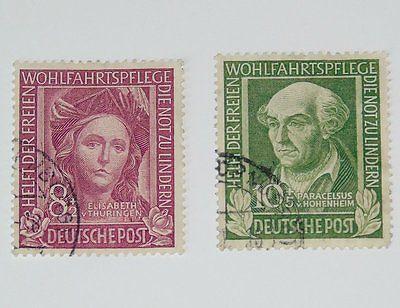 Stamp Pickers Germany 1949 Welfare Tax Semi-Postal Lot Scott #B310-311 VFU $34