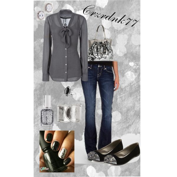 Silver And Sparkle Fall Winter Fashion Winter Fashion And Polyvore