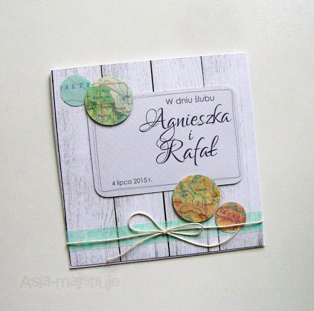 Wedding card | sea and mountains lovers | using old maps | best wishes for newlyweds