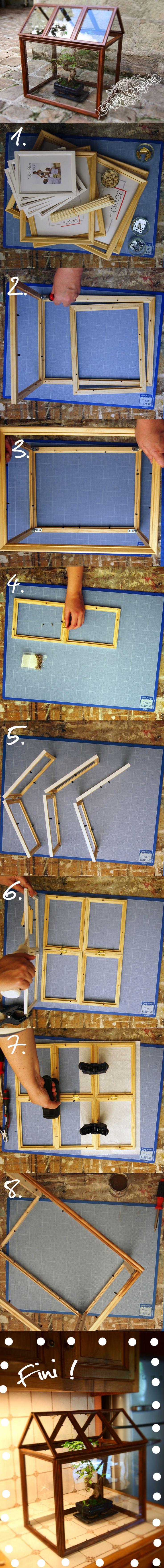 DIY : la mini serre par La Fée Caséine