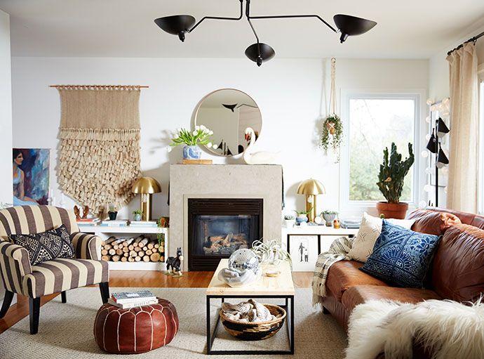 Creative artist and homemaker, Megan Schlachtenhaufen, throws her front door open wide to offer a tour of her beautifully bohemian space.