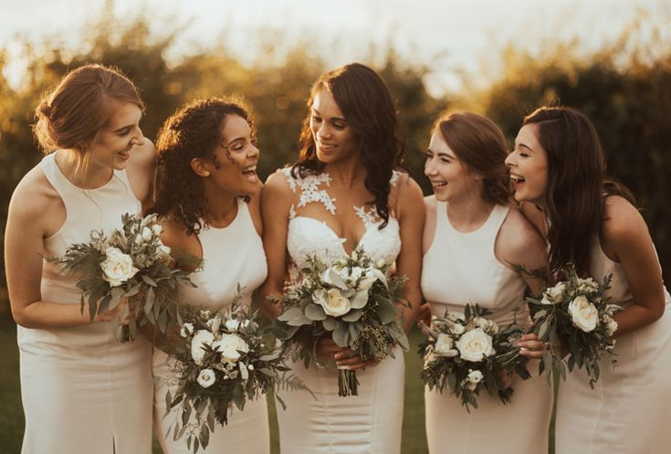 Bridesmaids Dresses Vera Wang Greenery Bouquets Elegant White Marquee Lavender Fields Wedding http://natalyjphotography.com/