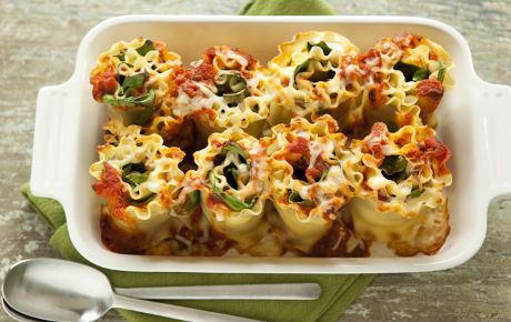 Kids love this dish and thankfully it's easy to customize to their tastes. Start with the basic recipe then add cooked sausage, pepperoni or black olives, if you like. Little hands can spread the cheese or sauce, sprinkle the fillings or roll up the pasta.