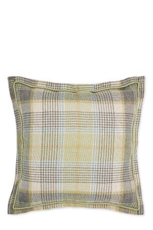 Buy Green Woven Check Milton Cushion from the Next UK online shop