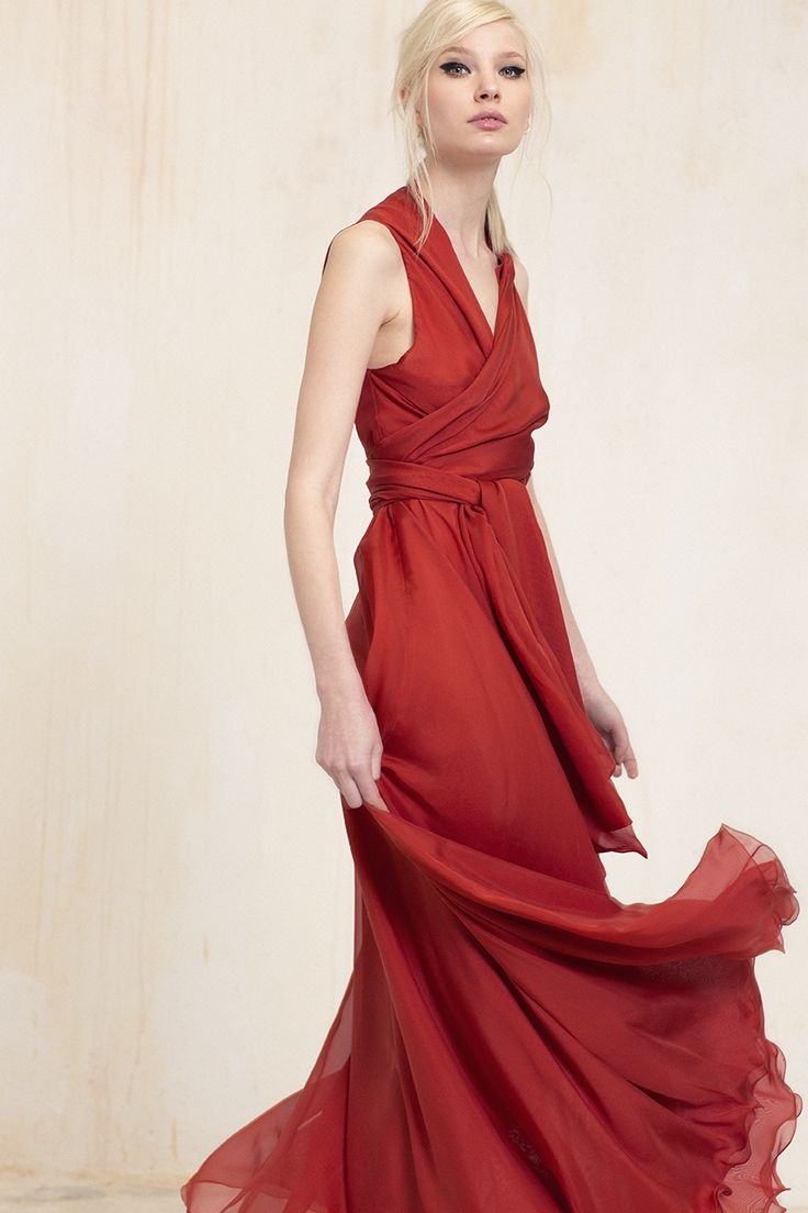 Mil Bies Dress Wrap dress multiform , cut on the bias with double layer , made of silk chiffon #fashion #dress #Cortana #WeloveWomen #SS15