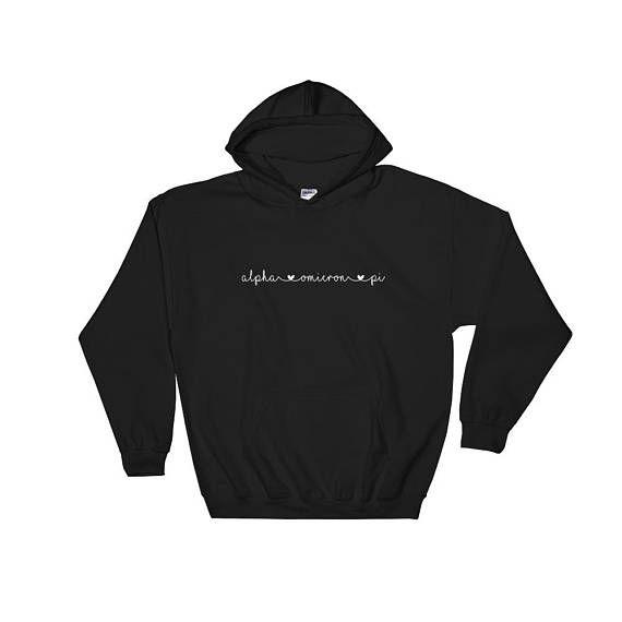 Alpha Omicron Pi Hooded Sweatshirt Alpha Omicron Pi Sorority Gifts Big Little Shirts Sorority Gift Sorority Shirts Sorority Shirt Col by 25VintagePlace