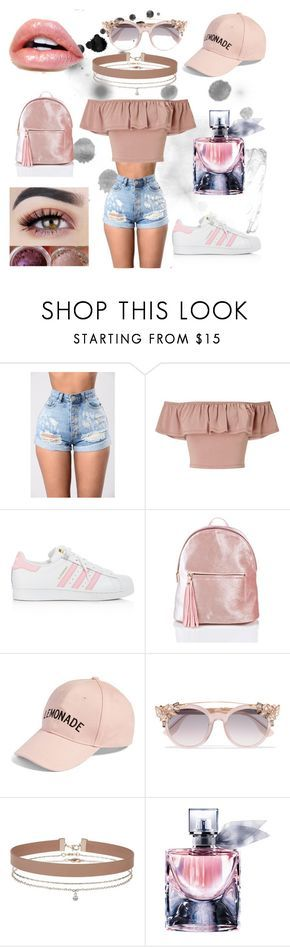 """""""outfit juvenil casual"""" by mariapazmarixxd on Polyvore featuring moda, Miss Selfridge, adidas, Amici Accessories, Jimmy Choo y Lancôme"""