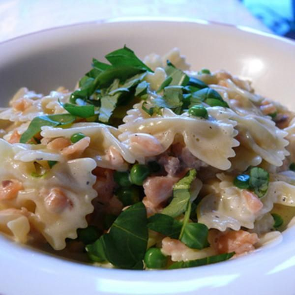 Simple salmon pasta - looks like a quick weeknight supper!