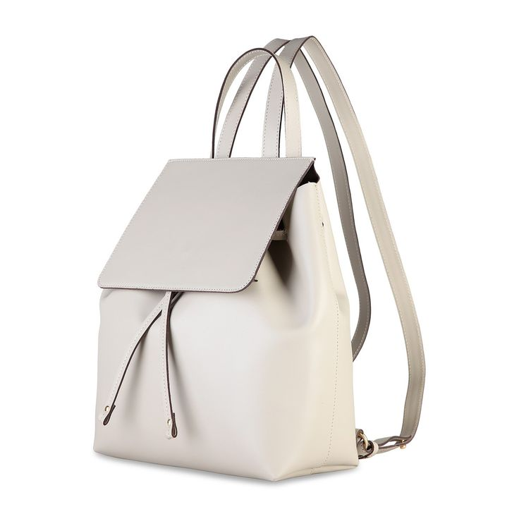 White leather backpack Made in Italia - CARMEN