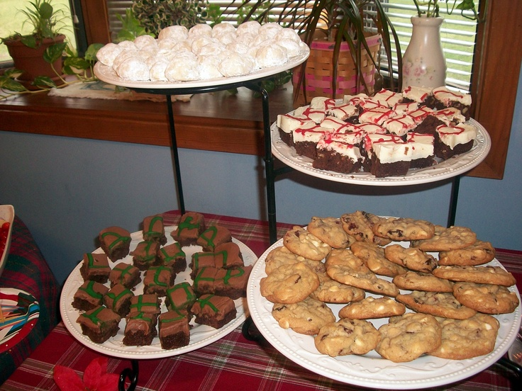 White Chocolate, cranberry and walnut cookies and brownies with white ...