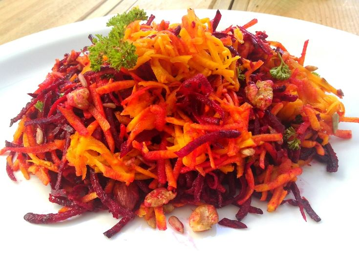 Raw beet, butternut and pecan slaw