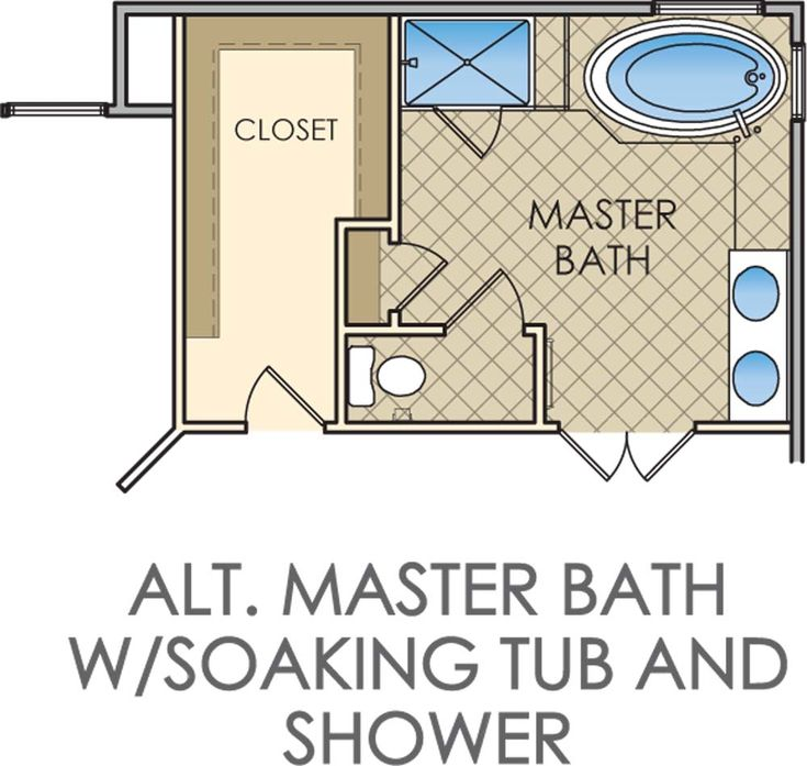 Master bathroom and closet floor plans woodworking for Master bath floor plans