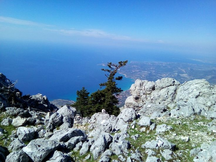 View from top of Mount Ainos in  Kefalonia