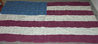 Knitting Pattern For American Flag Afghan : 10 Best images about America the great on Pinterest Red ...