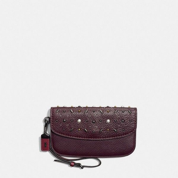 Coach Clutch ($275) ❤ liked on Polyvore featuring bags, handbags, clutches, coach purses, snap closure coin purse, coach wristlet, coach clutches and coach handbags