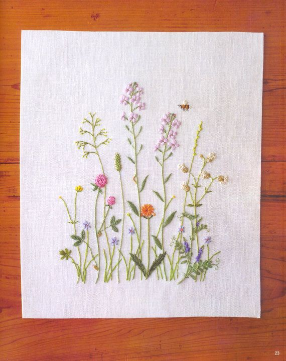 By doyenne Japanese embroiderer Kazuko Aoki. (Colour plate from a book showcasing her work, available on Etsy).