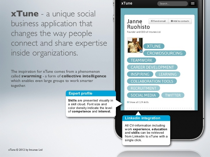 xtune-expertise-connected by Intunex via Slideshare