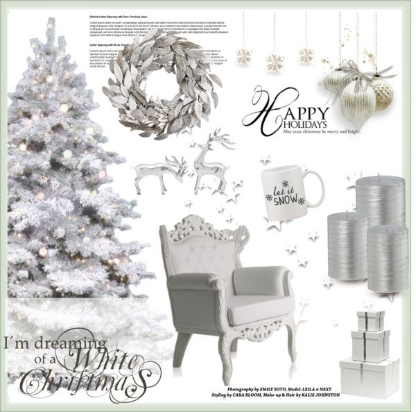 """""""Silver Festive Decor Ideas"""" by tracey-mason ❤ liked on Polyvore"""