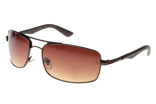 Ray Ban Active Lifestyle RB3460 Sunglasses Black-Gray Frame Tawny Lens