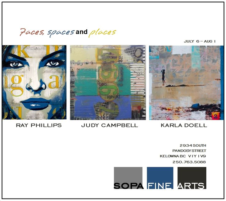 Faces, spaces and places Ray Phillips, Judy Campbell + Karla Doell